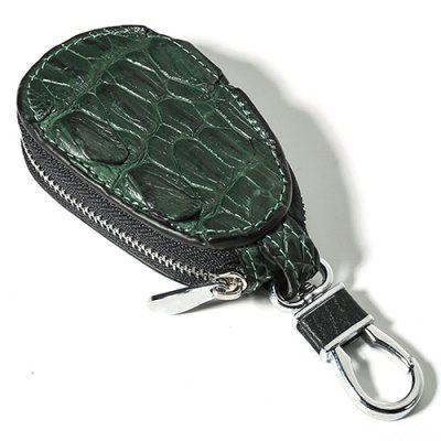 Men's Mini Car Key Bag Crocodile Leather Automobile Remote Keys Holder Simple Portable