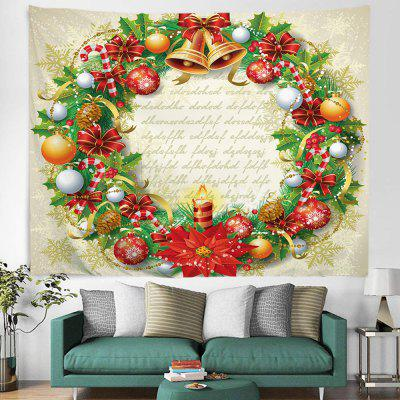 Beautiful Christmas Wreath Pattern Printing Tapestry Hanging Cloth