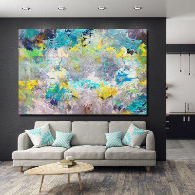 QINGYAZI HQS19103 Hand-painted Abstract Oil Painting Home Wall Art Frameless Paint