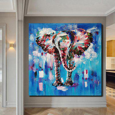 QINGYAZI HQS19105 Hand-painted Animal Theme Oil Painting Home Wall Art Frameless Paint