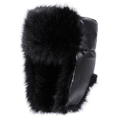 Men's Winter Warm Furry Hat PU Coldproof Ear Protective Cap