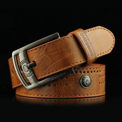 Pin Estilo Retro Men Buckle Belt Moda Rivet Cintura