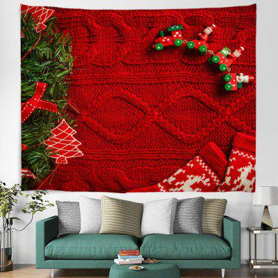 Red Christmas Sweater Texture Background Digital Print Tapestry Hanging Cloth