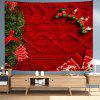 Red Christmas Sweater Texture Background Digital Print Tapestry Hanging Cloth - MULTI-A