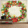 Beautiful Christmas Wreath Pattern Printing Tapestry Hanging Cloth - MULTI-A