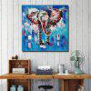 QINGYAZI HQS19105 Hand-painted Animal Theme Oil Painting Home Wall Art Frameless Paint - MULTI-A
