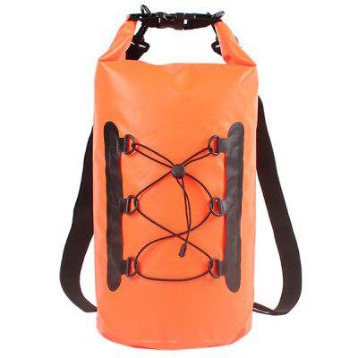 LS1771 15L Swimming Bag Outdoor Waterproof PVC Folded Backpack