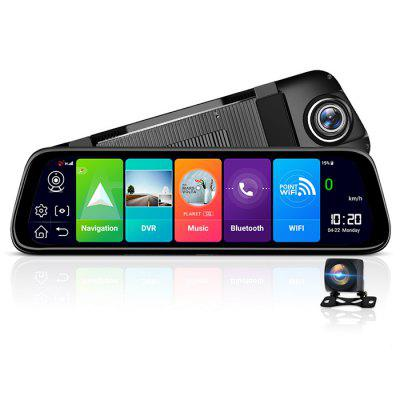 Junsun A970 4G Car DVR Android 8.1 Quad Core 9.66 Inch Display Rearview Mirror FHD 1080P Dash Camera Video Recorder
