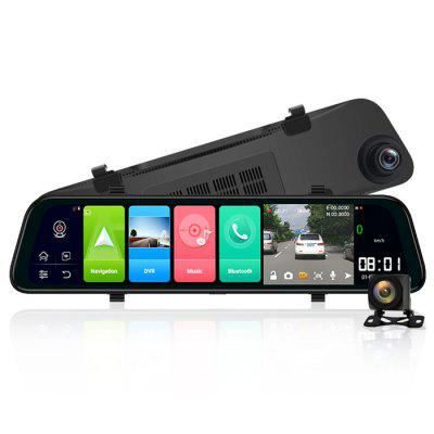 Junsun A202 4G Car DVR Android 8.1 9.66 Inch Display Rearview Mirror 2G / 32G FHD 1080P Dash Camera Video Recorder