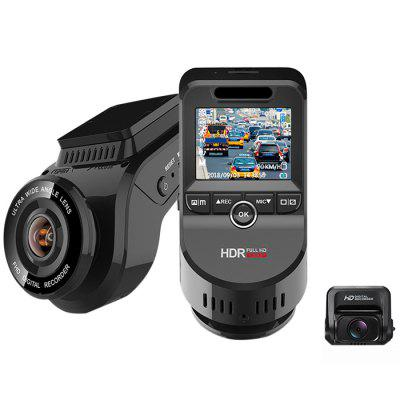 Junsun S590S 4K Ultra HD GPS Car Dash Cam 2160P 60fps ADAS DVR with 1080P Sony Sensor Rear Camera Night Vision