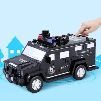 Puzzle Police Car Piggy Bank Toy