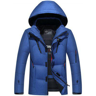 Pánske Solid Color Casual Down Coat Thick Warm Minimalistický Top