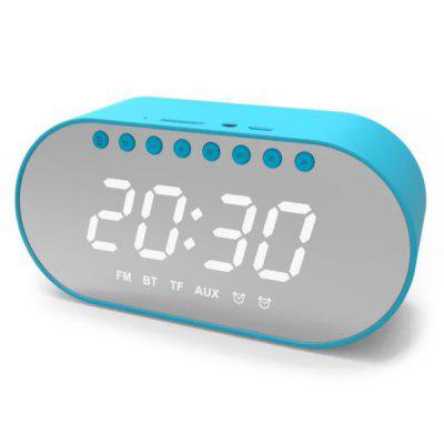 Wireless HiFi CD-level HD Noise Reduction Mic Bluetooth Speaker Dual Clock FM-radio