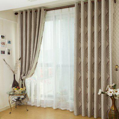 European Jacquard Blackout Grommet Curtain for Living Room Bedroom Children Room