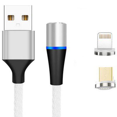 2 in 1 8 Pin Micro USB Magnetic Data Cable Fast Charge 1m