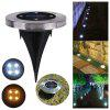 4 LEDs Solar Ground Light Stainless Steel Outdoor Garden Lamp - SILVER
