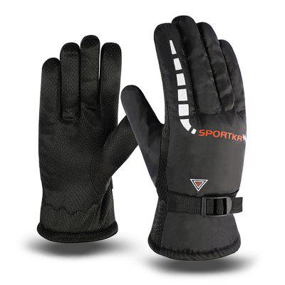 Men's warme handschoenen Winter Printing Outdoor antislip Motorrijden Glove