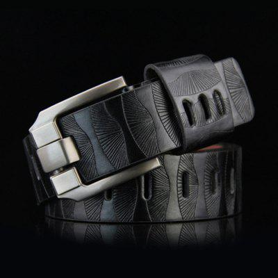Men's Retro Solid Color Belt Korean Easy-match Business Waistband Casual