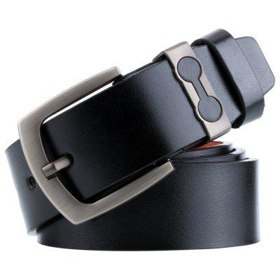 Men's Retro Alloy Buckle Belt Durable Leather Waistband