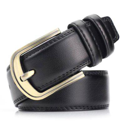 Men Fall Winter Leisure Leather Belt Pin Buckle Simple Retro Youth Waistband