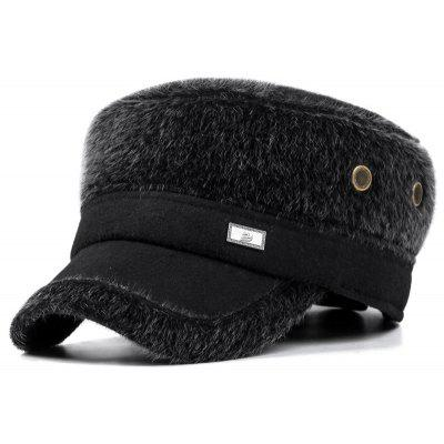 Men's Middle-aged Warm Hat Winter Ear Protective Flat Cap