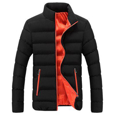 Men's Fashion Patchwork Stand Collar Parka Fashion Lining warme jas