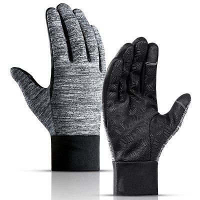 Men's Outdoor Waterproof  Touch Screen Gloves Windproof Cycling Full Finger Non-slip Sports Glove