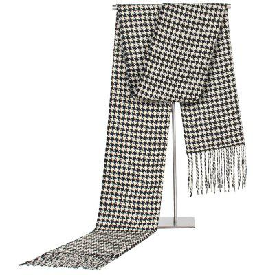 Men's Fashion Houndstooth Scarf Business Casual Warm Neckerchief