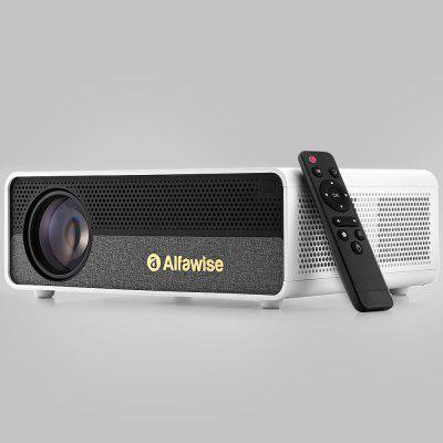 Alfawise Q9 BD1080P HD 4K Smart Home Projector met 40-300 inch Mirroring Screen High Brightness