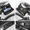 WILD MAN ES7 After the End of Mountain Bicycle Saddle Package Hard Road Riding Bike Tail Bag Packet - BLACK