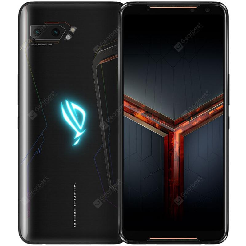 ASUS ROG Phone 2 Gaming 4G Phablet 6.59 inch Android Pie Snapdragon 855 Plus Octa Core 8GB RAM 128GB ROM 2 Rear Camera 6000mAh Battery Global Version - Black