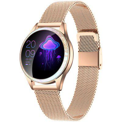 KingWear KW20 Bluetooth Smart Sports Watch IP68 Waterproof Stainless Steel Band Women Health Care Smartwatch