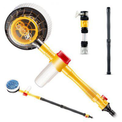 Car Wash Mop Washing Tool Set Automatic Rotary Water Round Brush