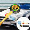 Rotating Water Spray Brush Automatic Car Cleaning Tool Rotating Round Brush - GOLDENROD