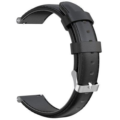 22mm Oil Wax Calf Leather Band Replacement Wristband for HUAWEI Watch 2 Pro / GT / GT2 46mm / Amazfit Pace