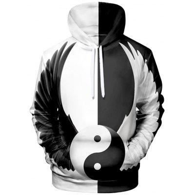 Men 3D Creative imprimare Hoodie Street Fashion Pulover