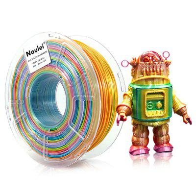 Noulei Silky PLA 3D Print Filament Shiny Rainbow Multicolor 1.75mm 600g 1 Spool