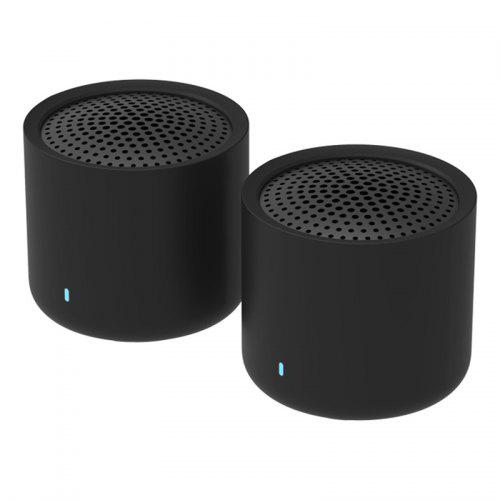 Xiaomi XMYX05YM Portable TWS Bluetooth 5.0 Speakers Mini 2.0 Dual-channel Wireless Stereo Bass Subwoofer with HD Mic 2pcs - Black