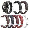 22mm Oil Wax Calf Leather Band Replacement Wristband for HUAWEI Watch 2 Pro / GT / GT2 46mm / Amazfit Pace - WHITE
