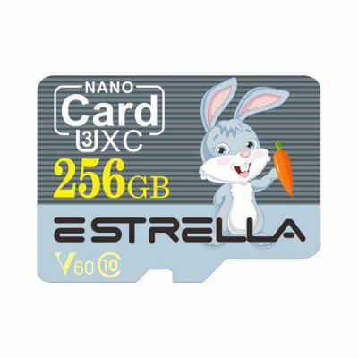 ESTRELLA Dier van de Cartoon Pattern High Speed ​​Micro SD Card U3XC SDXC V60 Class 10 Memory TF Card