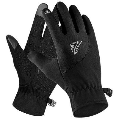 Men's Warm Winter Riding Gloves Touch Screen Windproof Durable Full Finger Glove