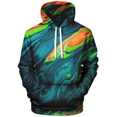 Men's 3D Creative Printing Hoodie Street Fashion Pullover Comfortable