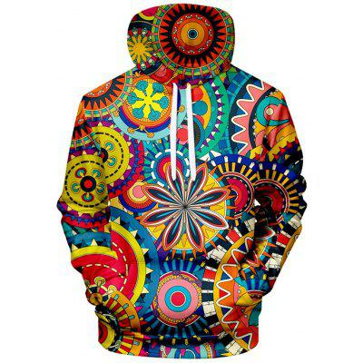 Mannen Creative 3D Printing capuchon Personality Straat Trend Hoodie
