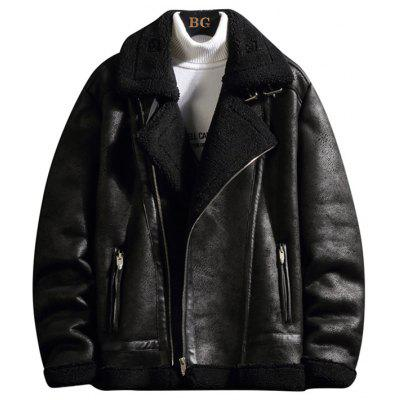 Men's Thick Winter Jacket Warm Minimalist Tailored Collar Coat