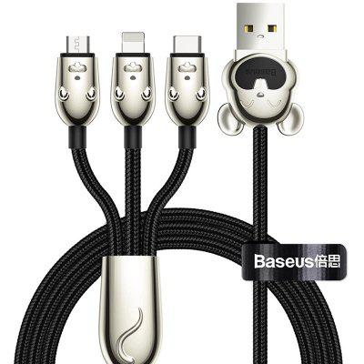 Baseus 3-in-1 Type-C Micro USB 8 Pin Data Cable 3.5A Fast Charge 1.2m