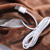 USB Charging Electric Heating Scarf - COFFEE