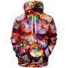 Men's Creative 3D Printing Hoodie Personality Street Trend Hooded Pullover - MULTI-A