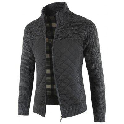 gearbest.com - Men's Fashion Patchwork Thick Sweater Warm Stand Collar Long-sleeved Knit Top