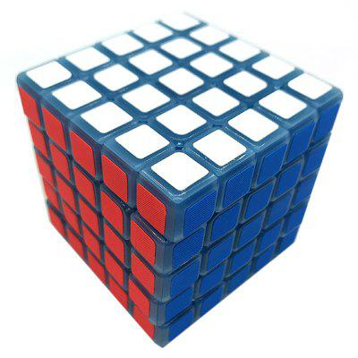 Albastru Night Vision Light 5 x 5 x 5 decompresia Magic Cube