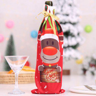 Christmas279 Cute Wine Bottle Cover for Christmas Decoration